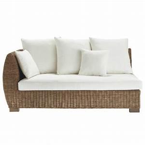 canape rotin 2 places accoudoir gauche hampton maisons With tapis de souris personnalisé avec canapé 2 places angle