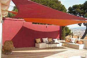 Toile Pour Terrasse : voile d ombrage pour jardin et terrasse ~ Premium-room.com Idées de Décoration