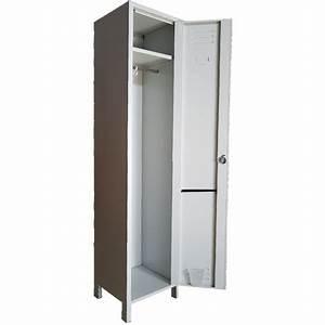 Casier De Vestiaire : armoire vestiaire casier m tallique 1 porte profondeur 34 cm ~ Edinachiropracticcenter.com Idées de Décoration