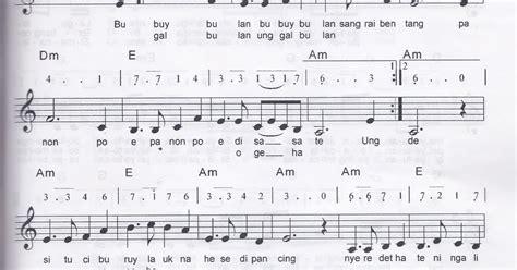 not balok bubuy bulan drawan kabul priyono pendidikan musik sd notasi balok dan angka lagu bubuy bulan