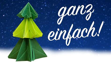 Papier Weihnachtsbaum Falten, Origami Christbaum Anleitung