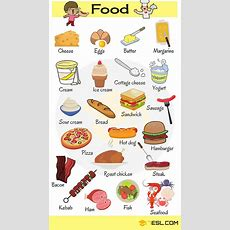 """Learn Food Vocabulary In English  """"food & Drinks"""" Vocabulary  Eslbuzz Learning English"""