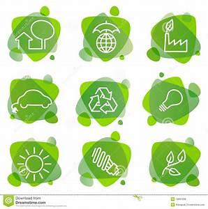 Iconos De La Protección Del Medio Ambiente Ilustración del Vector Ilustración de conjunto