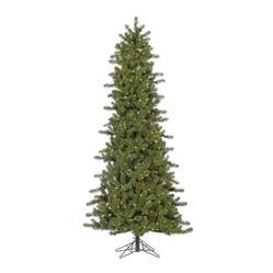 shop vickerman 7 5 ft 1012 count pre lit slim artificial christmas tree 500 white clear