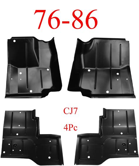 jeep floor pan thickness 76 86 jeep cj7 4pc floor pan set mrtaillight store