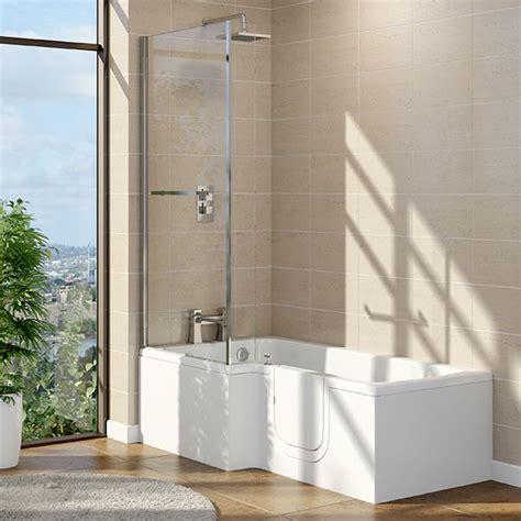 1700 X 800 X 700 Solarna L Shape Walk In Shower Bath