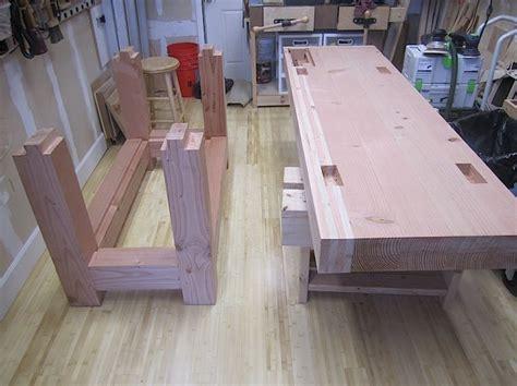 roubo  douglas fir work bench   woodworking
