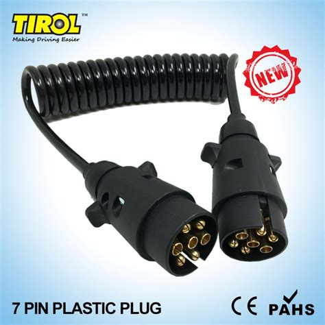 stecker für anhänger tirol 7 pin plastic black trailer wiring cable connector 12 n type x2 12n plugs