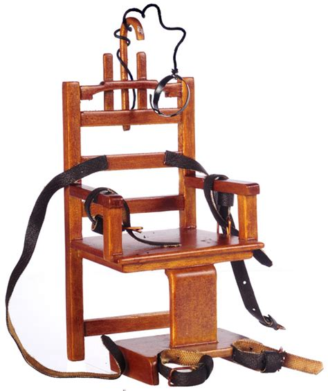 sparky electric chair quot sparky quot miniature electric chair walnut s