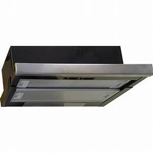 Montage Hotte Tiroir : dmo hotte de cuisine encastrable noire avec tiroir ~ Premium-room.com Idées de Décoration