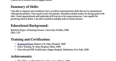 relevant skills for nursing resume nursing student resume must contains relevant skills experience and also educational background