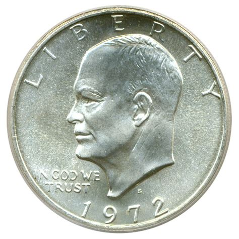 1972 silver dollar 1972 s eisenhower dollar 1 silver pcgs ms68 buy sell certified rare coins coin values