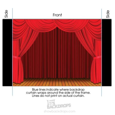 curtain portable theater backdrop self contained