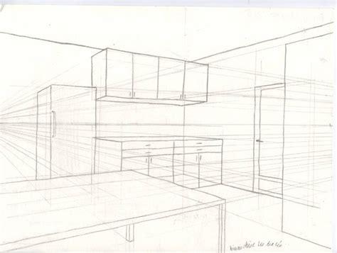 cuisine en perspective comment tracer carr rectangle triangle en 3d plan de travail cuisine