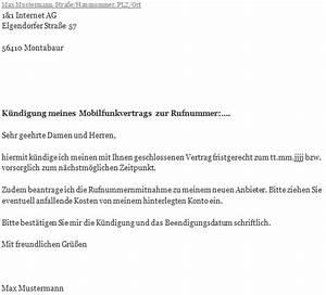 Kündigungsfrist Vertrag Berechnen : 1 1 handyvertrag k ndigung erstellen und abschicken ~ Themetempest.com Abrechnung