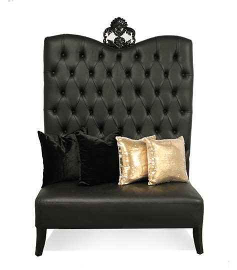 black luxe line high back sofa luxe event rental