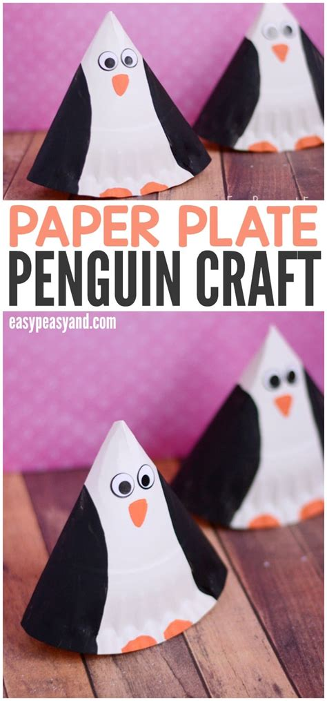 rocking paper plate penguin craft easy peasy  fun