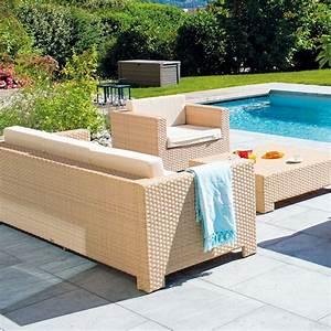 salon de jardin tresse portofino sable la boutique desjoyaux With jardin autour d une piscine 13 detail produit stock