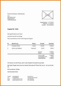 Rechnung Höher Als Angebot Vob : 5 schriftliches angebot muster lesson templated ~ Themetempest.com Abrechnung