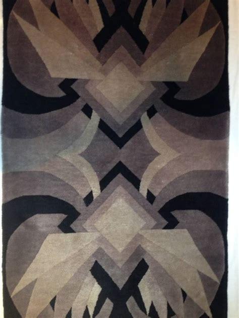 front entrance rugs deco geometric handmade wool rug at 1stdibs