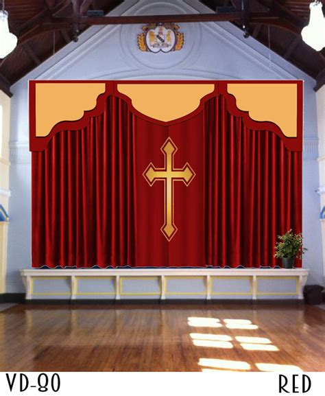 Backdrop Church by Church Backdrop Curtains Pulpit Drapes