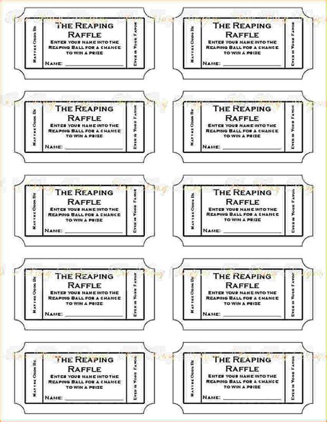 printable ticket template 4 printable raffle tickets teknoswitch