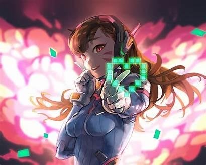 Anime Overwatch Diva Illustration Wallpapers Bc70 Desktop