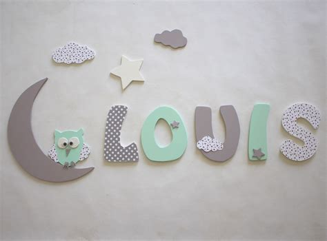 lettre prenom chambre bebe décoration prénom lettres en bois lettres taille 9 cm