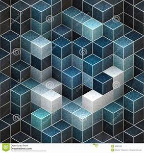 Abstract cubic backgrounds stock illustration. Image of ...