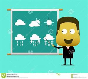 Weather Prediction Forecast Male News Report Stock Vector ...