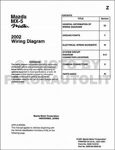 1996 Mazda Mx 5 Miata Wiring Diagram Manual Original