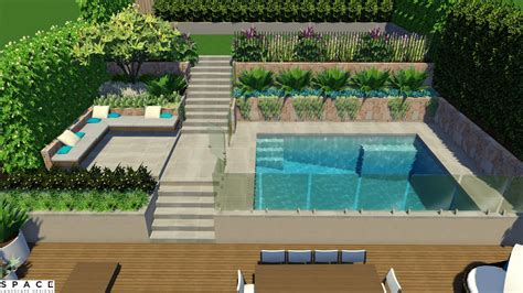 garden with swimming pool designs terrace garden with swimming pool youtube