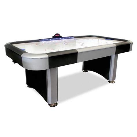 7' Flash Interactive Lighted Rail Air Hockey Table