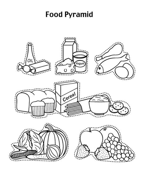 cuisine color free food pyramids for coloring pages