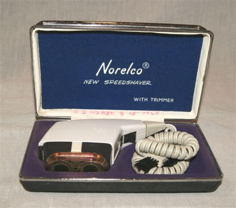 vintage norelco speedshaver trimmer electric shaver razor