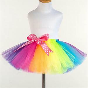 Tuto Tutu Tulle : buy 2017 new princess rainbow tutu toddler girl handmade tulle petit skirt ~ Melissatoandfro.com Idées de Décoration