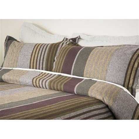 Design Port Bedding by Design Port Cadwell Stripe Brushed Cotton Duvet Cover