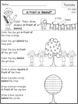 kindergarten math homework  quarter  frogs fairies
