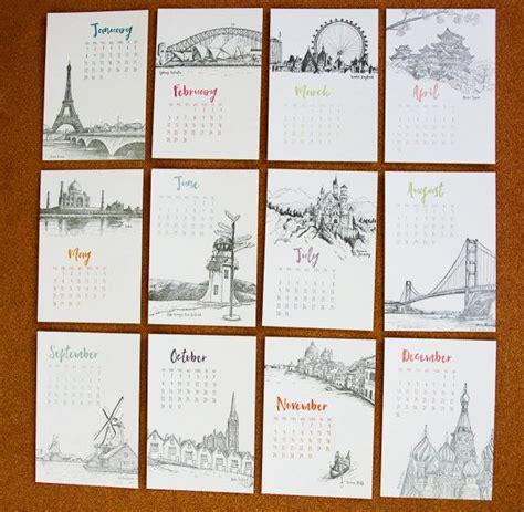 travel-landmark-wall-calendar-ideas