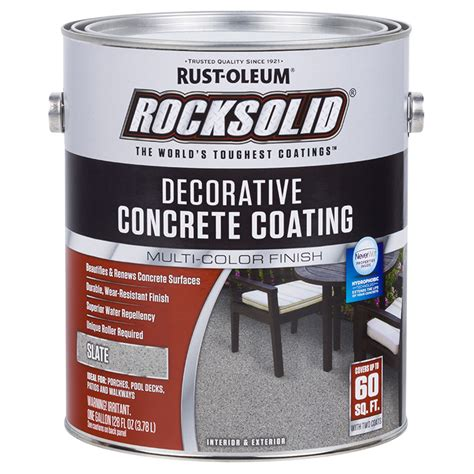 Rust Oleum Decorative Concrete Coating Slate by Rust Oleum 306267 Rocksolid Decorative Concrete Coating
