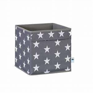 Aufbewahrungsbox Für Kinder : store t aufbewahrungsbox mit 2 griffen sterne grau online ~ Whattoseeinmadrid.com Haus und Dekorationen
