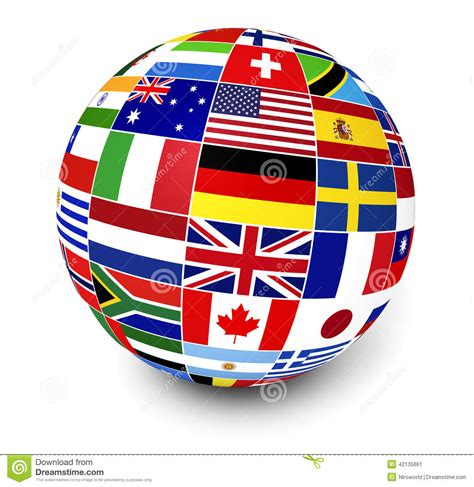 International Business World Flags Stock Illustration  Illustration Of Services, Italy 42135661