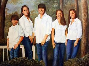 White Shirts And Blue Jeans Painting by David Gage