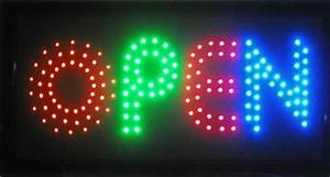 Animated LED Neon Light Open Sign Cutie Modern Look 4