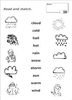 weather vocabulary for kids learning english printable resources worksheets weather