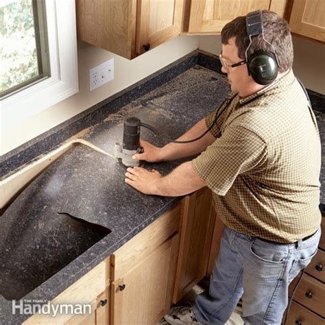 how to install countertops installing laminate countertops the family handyman