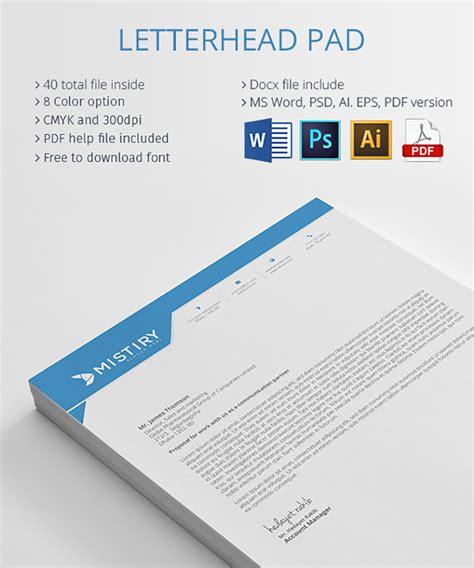 professional modern letterhead templates themekeepercom