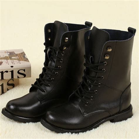 Black Boots,Leather Rivet Biker Boots,womens Motorcycle