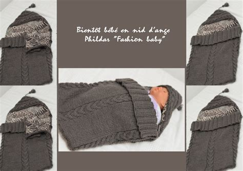 nid d ange si鑒e auto phildartendresse nid d 39 ange phildar tricot tricot tricot et crochet