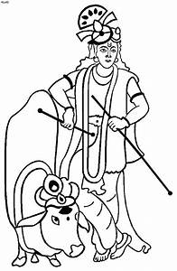 Janmashtami Festival Coloring Pages - family holiday.net ...